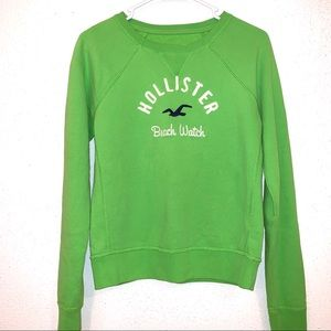 Hollister bright green sweater